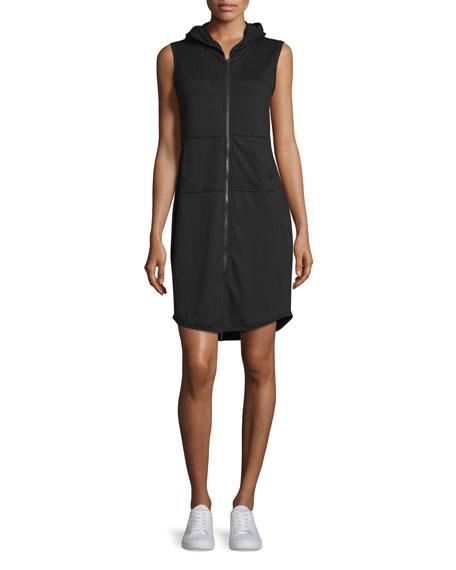 Elie Tahari Serena Sleeveless Hooded Zip-Front Dress