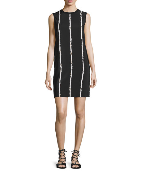 Derek Lam 10 Crosby Sleeveless Striped Silk Shift
