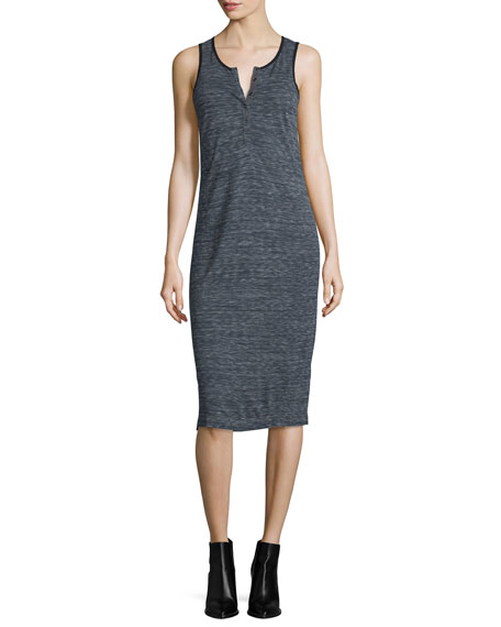 ATM Anthony Thomas Melillo Melange Henley Jersey Dress,