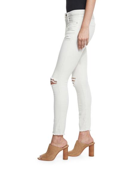 Jarod Cropped Skinny Jeans, Chalk