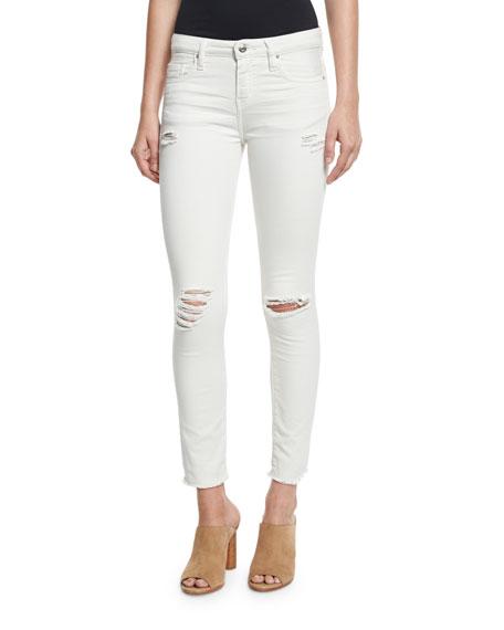 Iro Jarod Cropped Skinny Jeans, Chalk