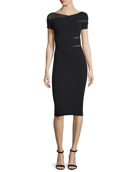 Bailey 44 Delap Wrap-Front Sheath Dress