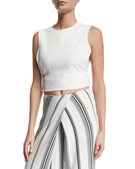 Kendall + Kylie Pierced Open-Side Crop Top, Bright
