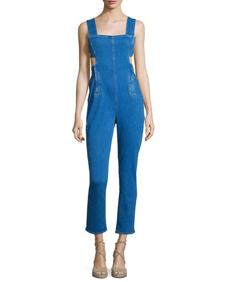 Kendall + Kylie Sleeveless Jumpsuit W/Waist Cutout, Medium