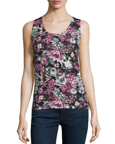 Superfine Orlag Floral Cashmere Tank Reviews