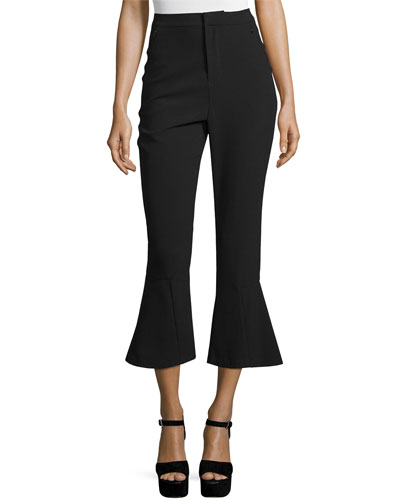 High-Waist Cropped Flare Pants