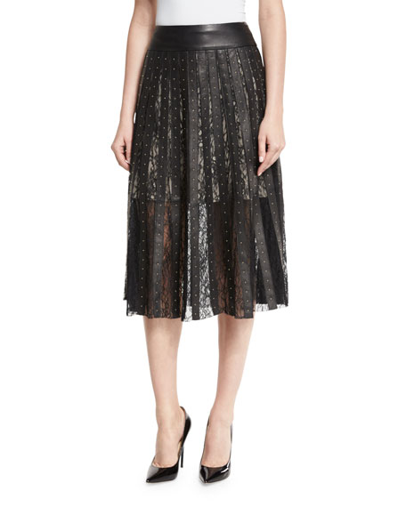 Alice + Olivia Tianna Studded Leather & Floral