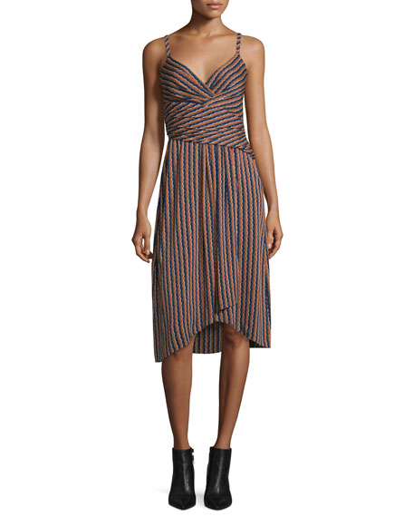 Diane von FurstenbergSaige Striped Stretch Silk Dress, Rickrack