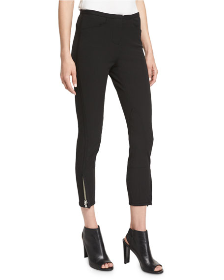 3.1 Phillip Lim Jodhpur Ankle-Zip Leggings, Black