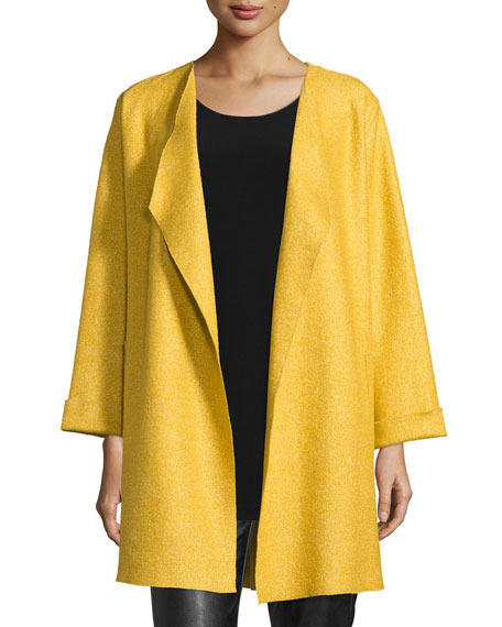 Caroline Rose Lana Fantasia Topper Coat, Sunset Gold,