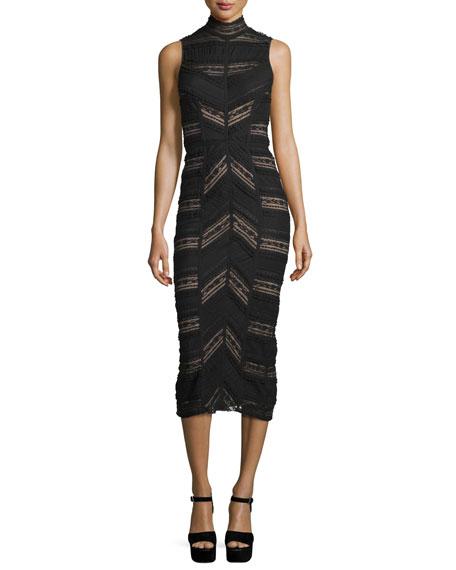 Cinq A Sept Nile Turtleneck Midi Dress Black Neiman Marcus