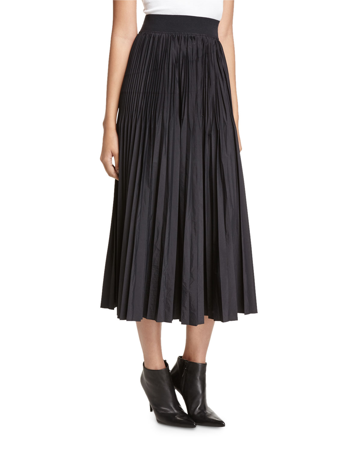 pretty cheap size 40 save up to 80% Pleated Midi Skirt, Black