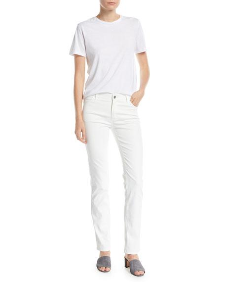 Thompson Waxed Denim Slim-Leg Jeans