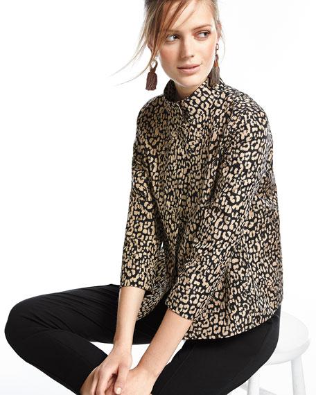 Vanna Leopard-Print Jacket, Black/Multi