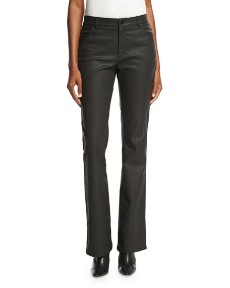 Lafayette 148 New York Collarless Contrast-Trimmed Wool-Blend