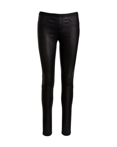 Leather Ankle Leggings