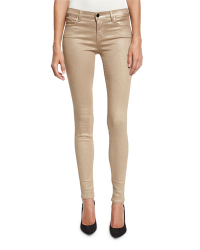 620 Mid-Rise Super Skinny Stardust Jeans, Gold