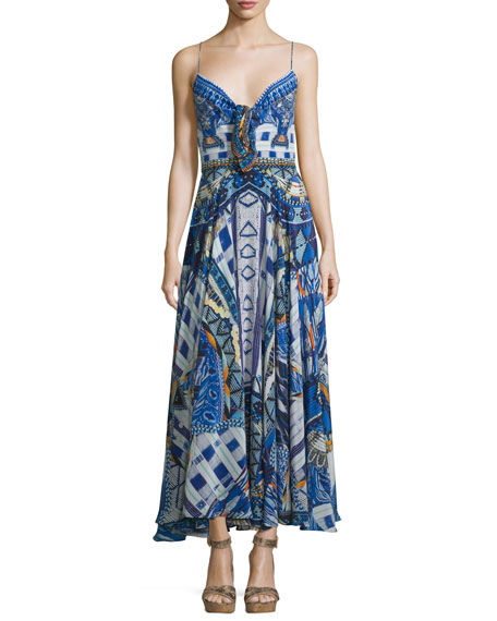 Camilla Embellished Tie-Front Coverup Dress, Rhythm & Blues