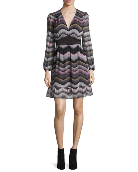 Diane von Furstenberg Lizbeth Printed Silk Dress, Encore