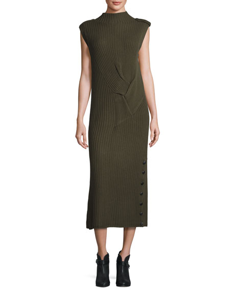 Rag & Bone Dale Ribbed Maxi Dress, Army