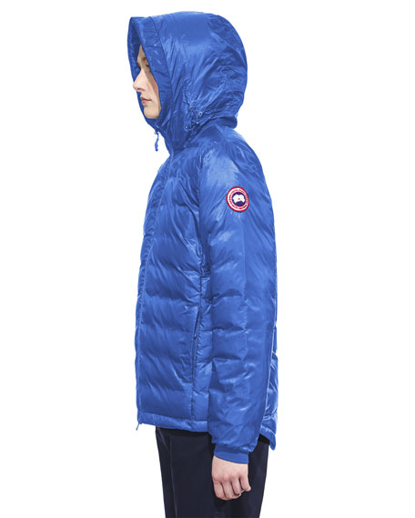 Camp Hooded Packable Puffer Jacket, Royal Blue