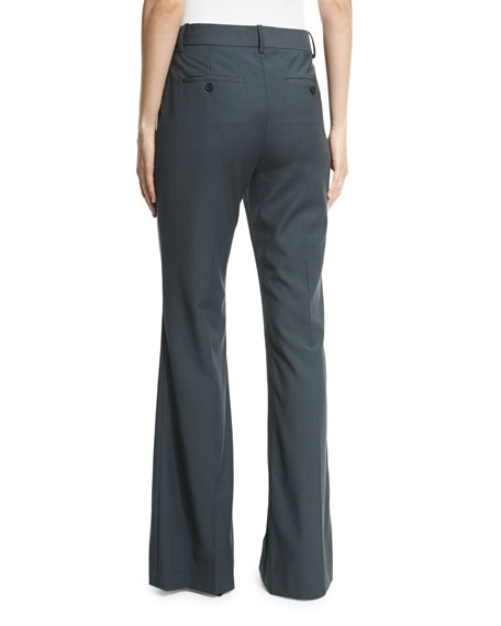 Jotsna Wool-Blend Pants, Dark Slate