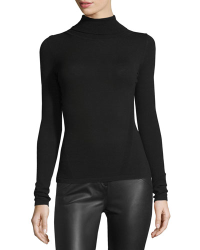 Jelena Turtleneck Sweater, Black Onsale