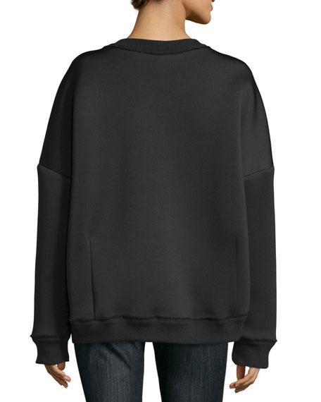 Don't Knock New York Pullover Sweatshirt, Black