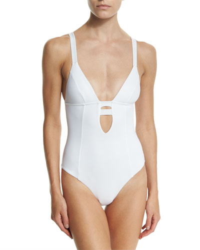 Neutra Strappy-Back One-Piece Swimsuit, Eco White