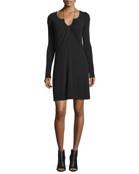 T by Alexander Wang Long-Sleeve Matte Jersey Dress,