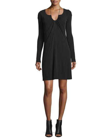 T by Alexander Wang Long-Sleeve Matte Jersey Dress,