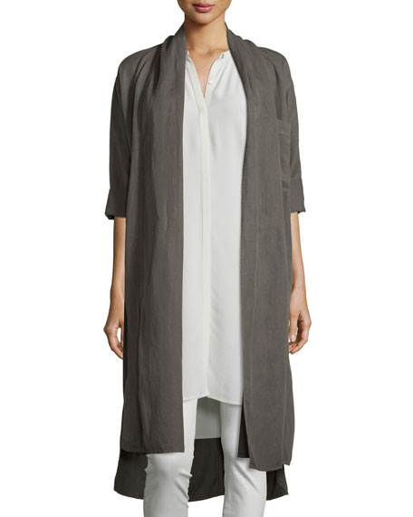 Eileen Fisher Shawl-Collar Open-Front Oversized Jacket