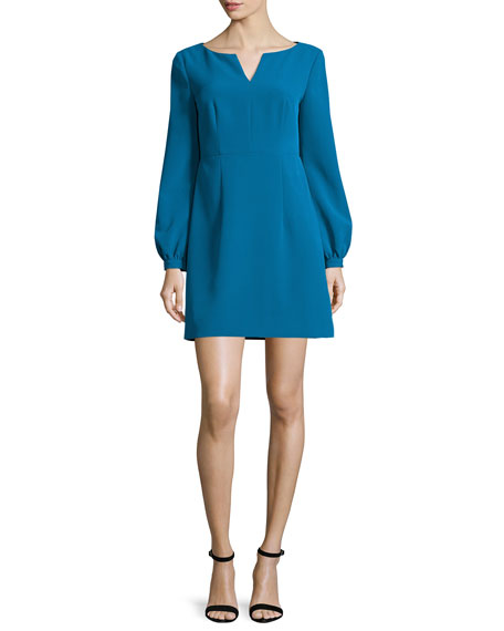 Milly Molly Italian Cady Mini Dress, Azure