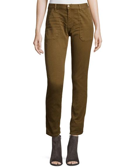 Sally Cropped Jeans, Khaki