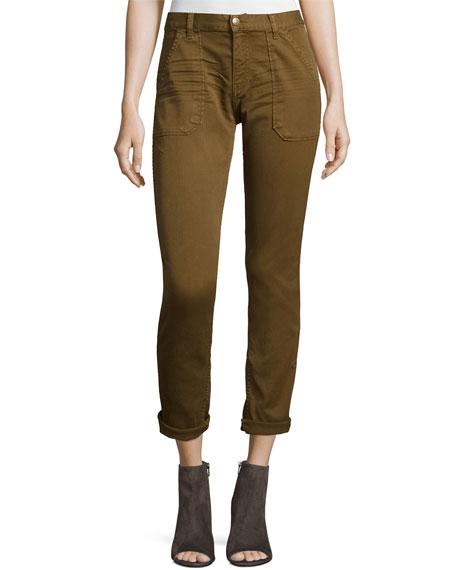 ba&sh Sally Cropped Jeans, Khaki