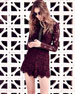 Image 2 of 4: Eva Long-Sleeve Lace Romper, Plum