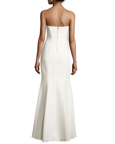 Jill Jill Stuart Strapless Structured Crepe Gown, Off White