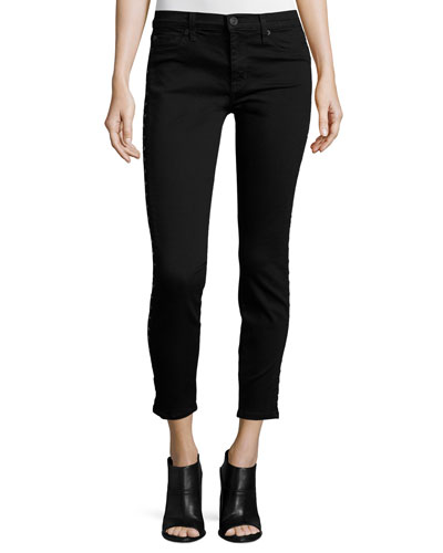 Stark Moto Coated Skinny Jeans, Noir