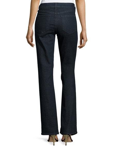Barbara Boot-Cut Denim Jeans, Dark Enzyme