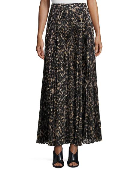 Haute Hippie Sunburst Flare Printed Maxi Skirt, Clinton