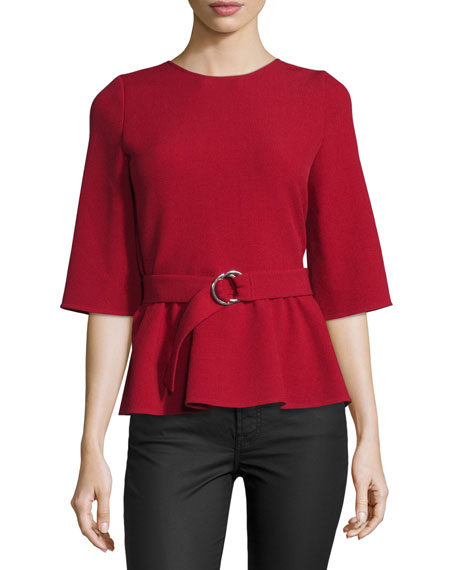 Triumph Wrap-Back Belted Top, Rouge