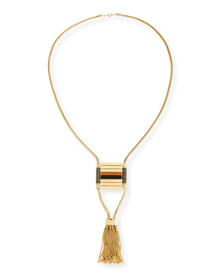 Lafayette 148 New York Long Statement Tassel Necklace,