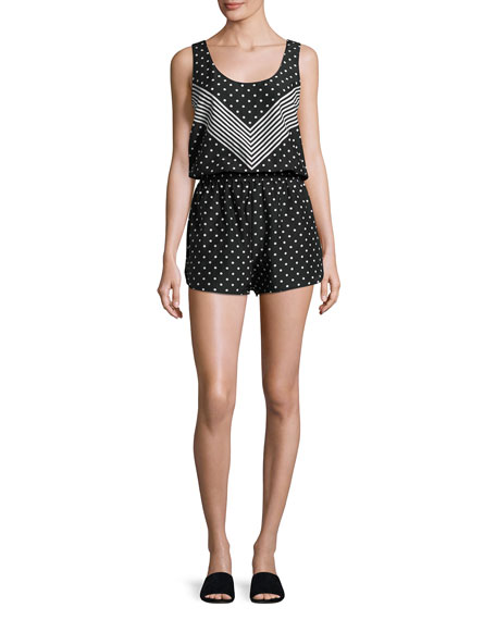 Stella McCartney Chevron & Polka Dot All-in-One Romper