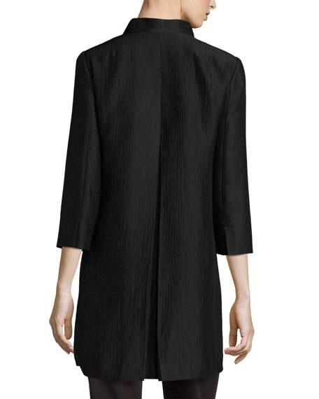 High-Collar Silk Ravine Coat
