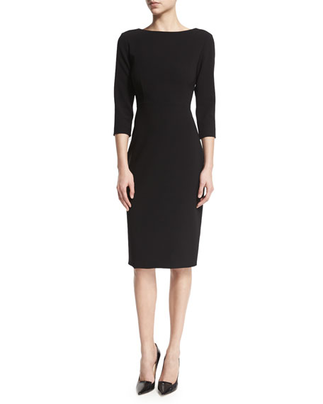 Varetta Admiral Crepe Sheath Dress, Black