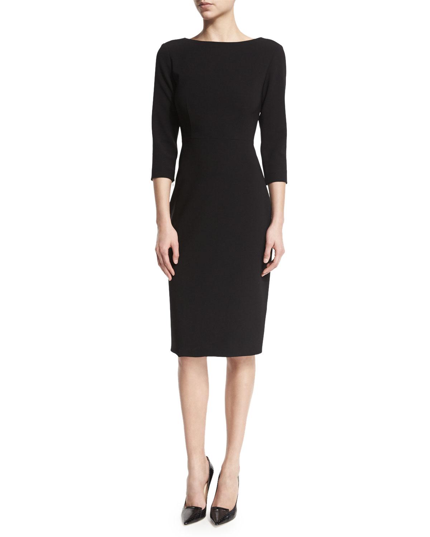 51fdd5ca Quick Look. Theory · Varetta Admiral Crepe Sheath Dress, Black