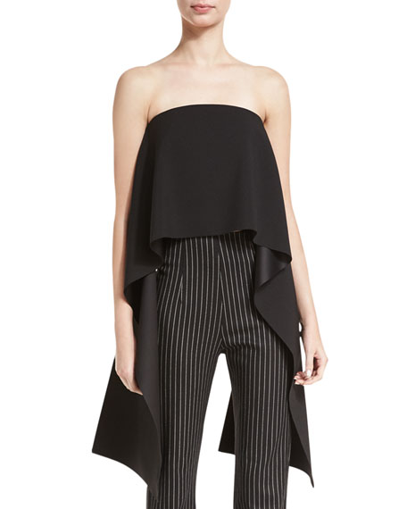Pippin Strapless Crepe Top, Black
