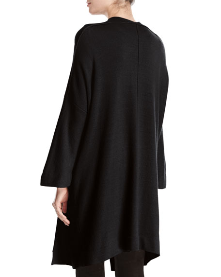 Cashmere Blanket Coat Cardigan, Black