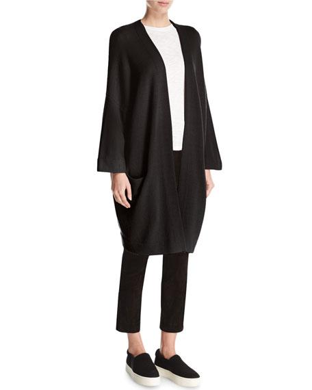 Cashmere Blanket Coat Cardigan, Black Reviews