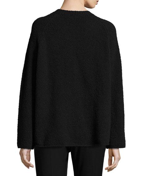 Raglan-Sleeve Merino Boxy Sweater